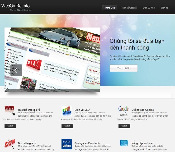 Web giá rẻ - Mẫu gốc