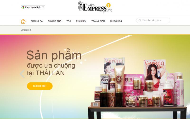 Mỹ phẩm Thái Lan Empress-8 - Mẫu gốc